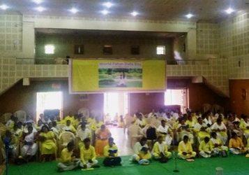 Group Fa study on World Falun Dafa Day in Nagpur, India.