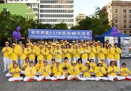 Celebrating World Falun Dafa Day.